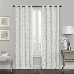 "One Brent Grommet 100% Blackout 63"" Curtain -Ivory"